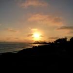 Sonnenuntergang beim Joggen